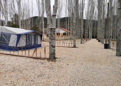 Camping Río Tus en Yeste, parcela Premium